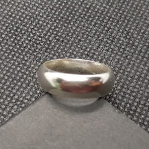 6mm D-Shaped Ring - plain (unhammered) 1